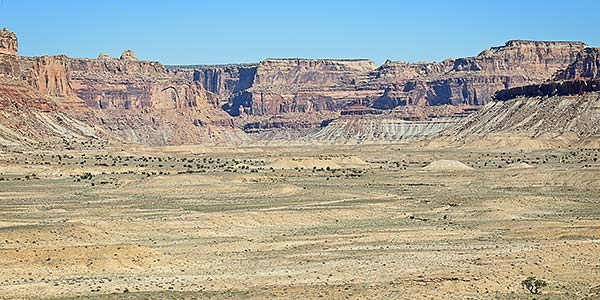 Open valley in the northern San Rafael Swell, UT