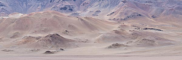 Volcanic landscape near Monk Valley
